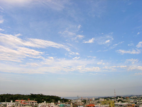 北谷の海と空